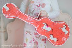 Quilted Ukulele Case Tutorial |  by Mommy By Day...Crafter By Night | For Fabricworm