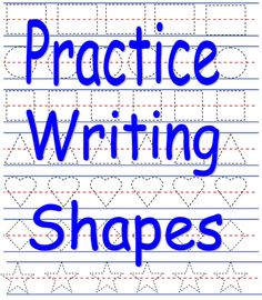 Printable Practice Writing Shapes Activity