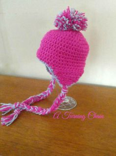 My Granddaughter needed a new hat!  #earflap #lovetocrochet