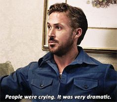 Ryan Gosling talking about the time he shaved his beard. (not really, but we could totally see it happening!)  #beards