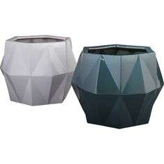 Order 3.  One in black, white, teal. isla planters