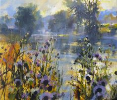 Quiet waters 70cm x 60cm Mixed media on canvas Chris Forsey
