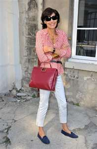 Red gingham.