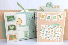 Baby Boy Scrapbook Mini Album Kit or Premade by ArtsyAlbums