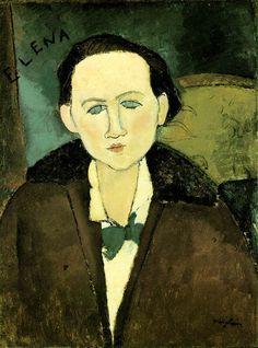 Amedeo Modigliani  Portrait of Elena Pavlovski