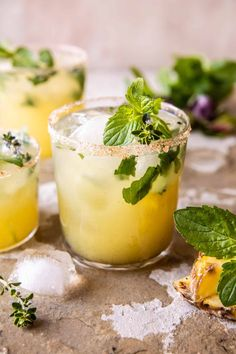 Spicy Serrano Pineapple Margarita...a spicy, sweet take on the classic, the perfect cocktail to sip on with friends & family all summer long! Fun Cocktails, Fun Drinks, Yummy Drinks, Cocktail Recipes, Cocktail Drinks, Party Drinks, Cocktail Club, Cocktail Ideas, Alcoholic Beverages