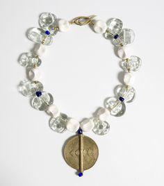 Amma Ogan glass bead neckpiece