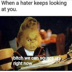 "I love the Grinch flashback. ""Oh Martha May, oh Christmas!"" : I love the Grinch flashback. ""Oh Martha May, oh Christmas! Grinch Memes, Gym Humour, Workout Humor, Disney Channel, Haters Be Like, Funny Quotes, Funny Memes, Funny Captions, Videos Funny"
