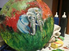 Elephants Elephants, Watermelon, Fruit, Painting, The Fruit, Painting Art, Paintings, Paint, Draw