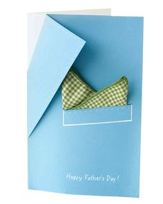 Pocket-Square Template | Martha Stewart Living - Create a specially designed card for Dad featuring a jacket lapel and a pocket square.