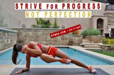Total body workout. Focus on your progress and stay determined! Don't expect immediate or unrealistic results. Strive to be healthy, fit, and peaceful! This video will help you on your fitness journey: http://www.youtube.com/watch?v=Do3VLwfgo_E