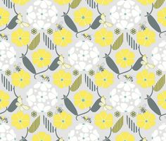Shop the world's largest marketplace of independent surface designers Spoonflower, Printing On Fabric, Bee, Quilts, Blanket, Wallpaper, Flowers, Patterns, Colors