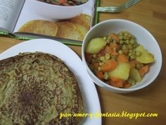 Curry de Verduras de Temporada con Tortitas de Garbanzo