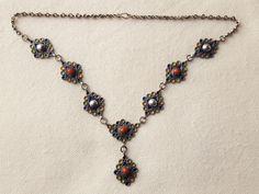vintage Kabylen silber kette mit emalien und edel koralle von etuareg auf Etsy