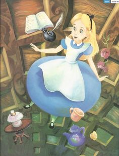 Franc Mateu and Holly Hannon   ILLUSTRATION for Teddy Slater's 1995 Illustrated Classic adaptation of Walt Disney's Alice in Wonderland