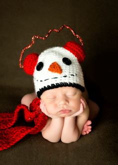Snowman Hat and Scarf by MadhatterknitsCo on Etsy