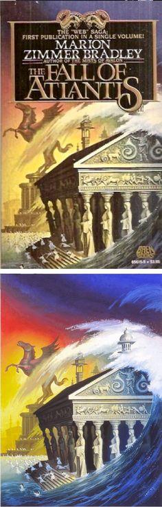 ALAN GUTIERREZ - The Fall of Atlantis by Marion Zimmer Bradley - 1987 Baen Books - cover by isfdb - print by alangutierrezart.deviantart.com Fantasy Book Covers, Fantasy Books, Sci Fi Fantasy, Sci Fi Novels, Sci Fi Books, Ace Books, Books To Read, Science Fiction, Conan The Conqueror