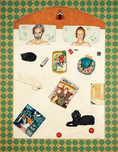 La cama con cosas. 1983 Heart, Decor, Women, Portrait, Art History, Artists, Drawings, Paint, Decoration