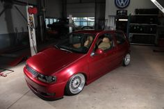 Volkswagen Polo 6n2 Bi Turbo   Volkswagen Polo 6n2 Lowered slammed scrape vw chrome rims