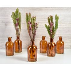 6 Piece Veatch Glass Table Vase Set (Set of 6)