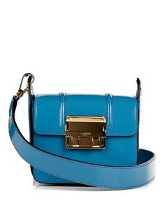 LANVIN Jiji Small Patent-Leather Cross-Body Bag. #lanvin #bags #shoulder bags #patent #lining