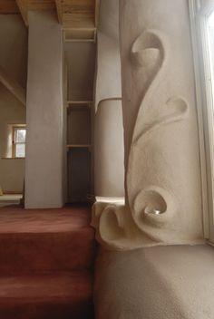 Plaster shelves and detailing...