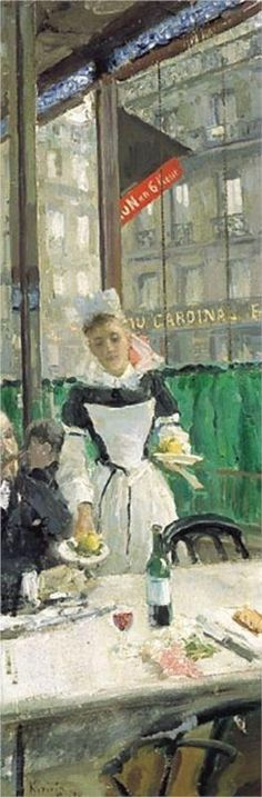 Konstantin Korovin (Russian 1861–1939) [Impressionism, Art Nouveau] Breakfast Time.