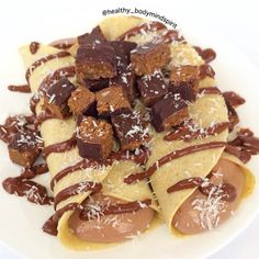 Chocolate Stuffed Protein Crepes