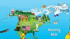 Continents, Indiana, Family Guy, Ocean, World, Kids, Fictional Characters, The World, School