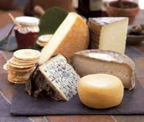 Our Spanish Cheese Collection features five cheeses totaling about 2.5 lbs and currently includes: Iberico, Patacabra, Valdeón, Mahón, and Garrotxa. We have expertly paired this collection with dense fig bread and delicious quince paste. [ www.enjoyfoiegras.com ]