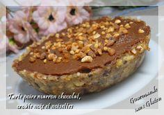 Gourmande sans gluten: Tarte poire marron chocolat, croûte noix et noisettes pour le #YummyDayBirthday #YummyMagazine