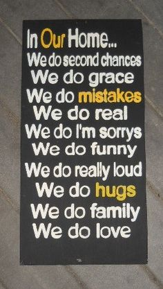 In Our House We do Family Rules wooden primitive sign