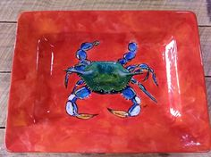 "18"" crab platter after firing"