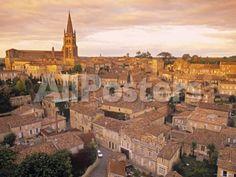 St. Emilion, Gironde, Aquitaine, France by Wendy Connett Landscapes Photographic Print - 61 x 46 cm