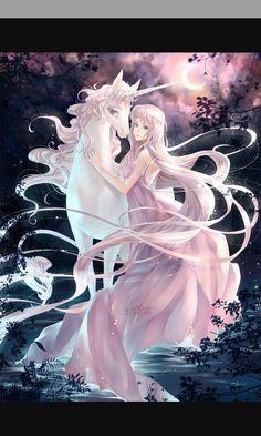maybe fairy and unicorn? love the last unicorn Unicorn And Fairies, Unicorn Art, Unicorn Images, Unicorn Fantasy, Fantasy Magic, Fantasy Art, Animal Original, Illustration Fantasy, Botanical Illustration