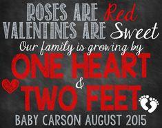 Valentine's Day Pregnancy Announcement by ChalkingItUpBoards