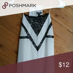 Express White Black Lace Trim Tank Top Size Small Excellent condition   Gently owned  Seen paired with Express Editor pants   20% off bundles of 3 or more items!  Smoke and pet free home Express Tops Tank Tops