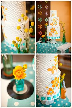 A Retro Candy Theme Inspiration: a playful wedding or a child's birthday- The FANTASTIC CAKE!