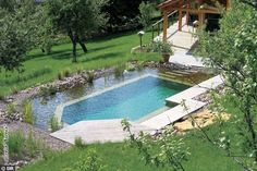 If The Lamp Shade Fits: Natural swimming pools Swimming Pool Pond, Natural Swimming Ponds, Swimming Pool Designs, Living Pool, Pool Chlorine, Backyard Paradise, Dream Pools, Cool Pools, Pool Landscaping