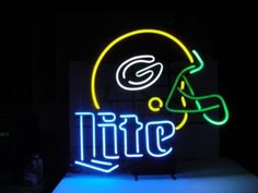 "NFL GREEN BAY PACKERS MILLER LITE BEER BAR CLUB NEON LIGHT SIGN (18"" X 13"") - Free Shipping Worldwide  ~ Voltage: 100-240v UL Transformers from NeonPro - Workable in all countries - US, UK, Canada, Japan, Australia, European Countries, & Others.  ~ Payment: Paypal / Credit Cards / Western Union.  ~ Delivery Time: 9-15 days to USA/Canada/Japan/Australia/Asian Countries; 12-18 days to European Countries/South American Countries; via a USPS/Hongkongpost/Canadapost tracking number, directly…"