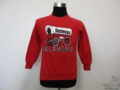Vtg 70s 80s 90s Jerzees Oklahoma Sooners Crewneck Sweatshirt sz S University OU #Jerzees #OklahomaSooners  #tcpkickz