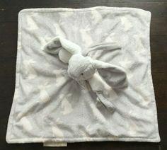 Blankets & Beyond Baby Lovey Gray Bunny Rabbit Dandelion Minky Pacifier Holder Pink Blanket, Lovey Blanket, Wonderful Things, Fun Things, Blankets And Beyond, White Teddy Bear, Grey Bunny, Baby Security Blanket, Rabbit Baby