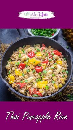 Rice Recipes, Asian Recipes, Cooking Recipes, Thai Pineapple Fried Rice, Thai Fried Rice, Thai Rice, Burfi Recipe, Bistro Food, Pineapple Slices