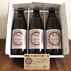 西山コシヒカリビール (3本/化粧箱入) - にしざわ酒店 新潟の地酒オンラインショップ