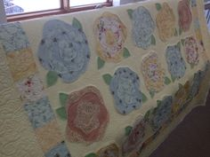 My French Roses quilt, quilted April 2013 - www.peacockquilting.com