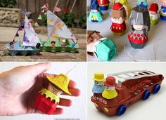 Recycled egg cartons into arts and craft project for kids that shows them about reusing materials into toys. Art Activities For Kids, Craft Projects For Kids, Arts And Crafts Projects, Fun Crafts, Craft Ideas, Recycling For Kids, Diy For Kids, Recycling Ideas, Egg Packaging