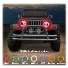 ORACLE LED (SMD) Halo Kit to use with Headlights for 97-06 Jeep® Wrangler TJ