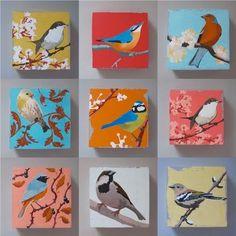 Passarinhos Small birds on small canvas Birds Painting, Animal Drawings, Small Paintings, Mini Canvas Art, Bird Artwork, Bird Drawings, Animal Paintings, Canvas Painting, Diy Canvas Art