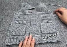 Baby Knitting Patterns, Knitting Designs, Crochet Baby, Knit Crochet, Baby Vest, Children, Kids, Sweaters, Fashion
