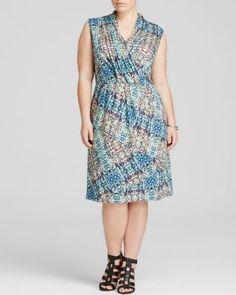 NIC + ZOE Plus Urban Safari Print Dress | Bloomingdale's